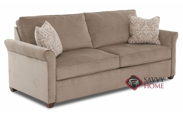 Fort Worth Fabric Stationary Sofa By Savvy Is Fully