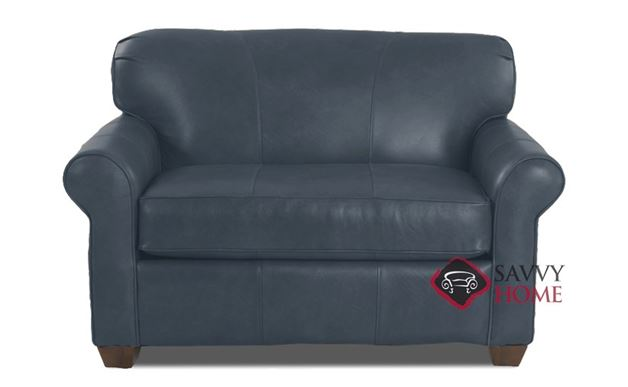 Calgary Leather Chair Sleeper Sofa in Endura Pacific