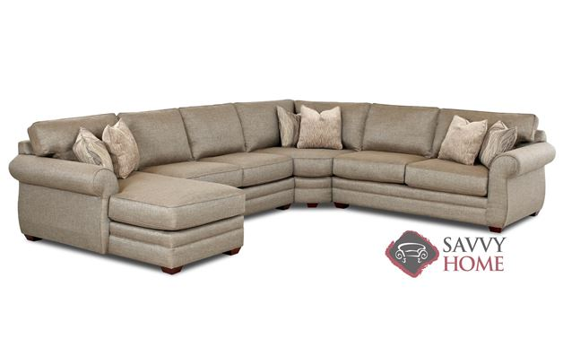 Canton True Sectional Full Sleeper Sofa with Chaise Lounge by Savvy