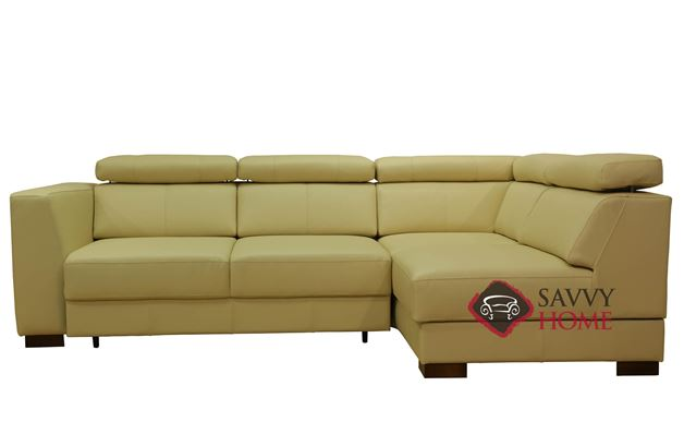 Halti Leather True Sectional Full Sleeper Sofa by Luonto