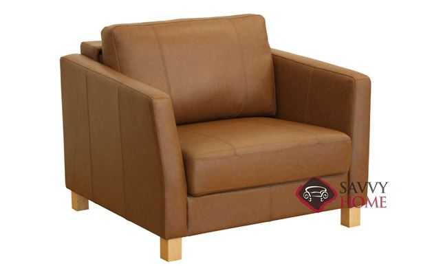 Monika Leather Chair Sofa Bed by Luonto