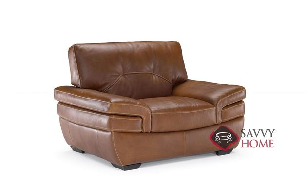 Biagio (B806-048) Leather Big Chair by Natuzzi