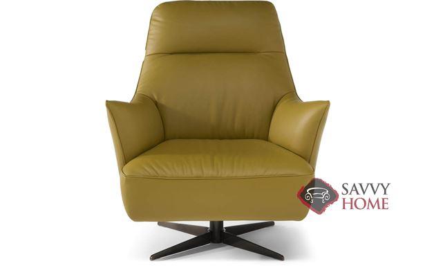 Calma (C056-66) Leather Swivel Chair by Natuzzi