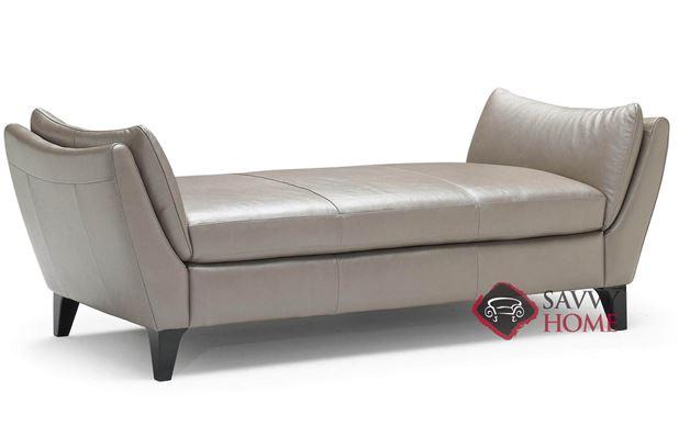 Edoardo (A486-232) Leather Chaise Bench by Natuzzi