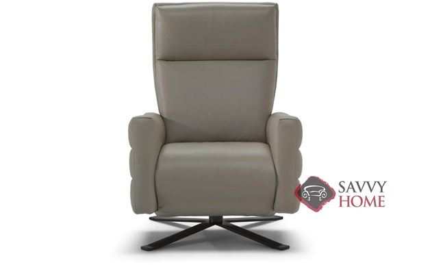 Istante (B958-544) Reclining Leather Swivel Chair by Natuzzi