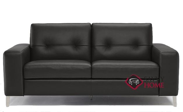 Po (B883-264) Full Leather Sleeper Sofa by Natuzzi Editions in Denver Black