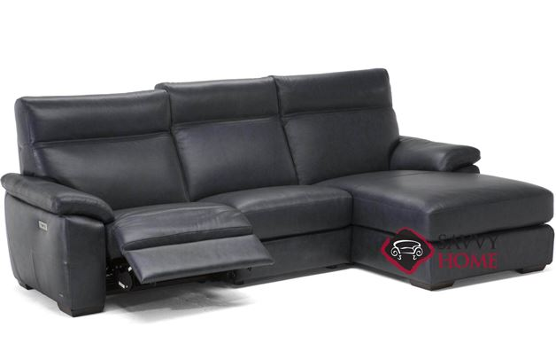 Empatia (C007-047/049/291/514/515) Power Reclining Leather Chaise Sectional by Natuzzi