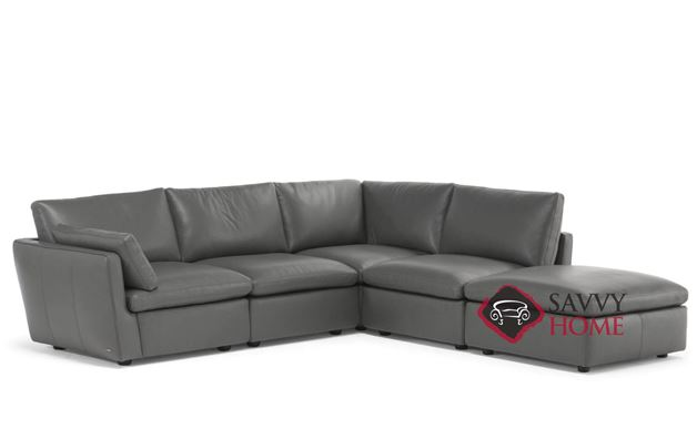 Leggerezza (C069-272/274/291/291/011/100) Leather Large Chaise Sectional by Natuzzi