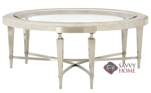 Domaine Blanc Round Cocktail Table by Bernhardt
