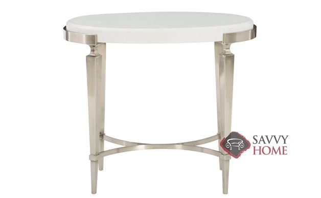 Domaine Blanc Oval End Table by Bernhardt