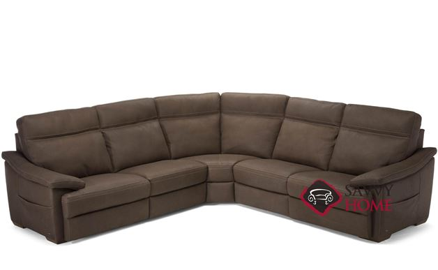 Pazienza (C012-272/274/291/076/291) Leather Large True Sectional by Natuzzi