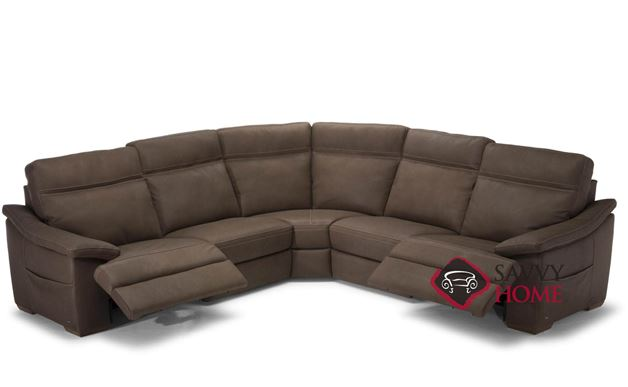 Pazienza (C012-514/515/291/076/291) Power Reclining Leather Large True Sectional by Natuzzi