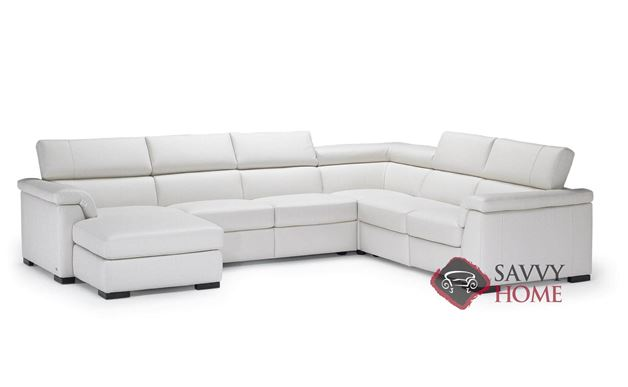 Tommaso B634 Leather Stationary True Sectional By