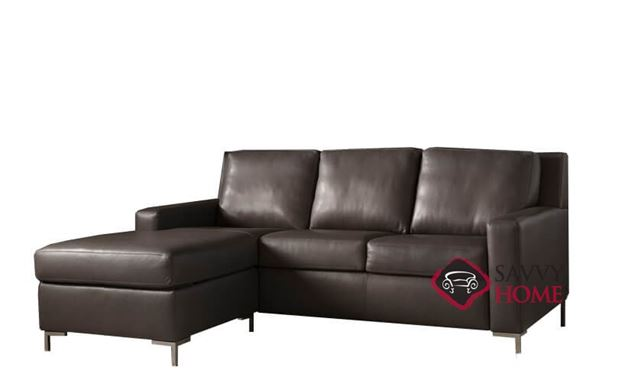 Bryson Queen Plus with Chaise Sectional Leather Comfort Sleeper by American Leather