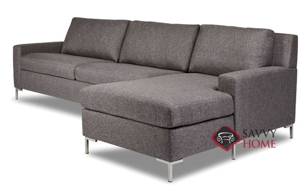 Bryson Queen Plus with Chaise Sectional Comfort Sleeper by American Leather