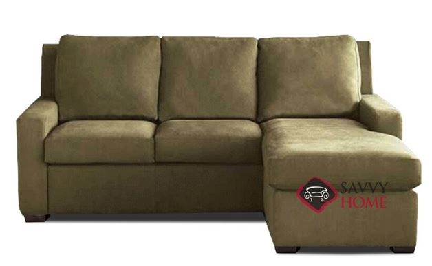 Lyons Queen Plus with Chaise Sectional Comfort Sleeper by American Leather