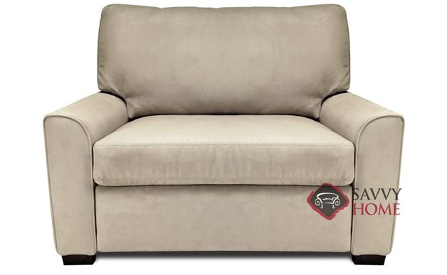 Klein Twin Leather Comfort Sleeper by American Leather