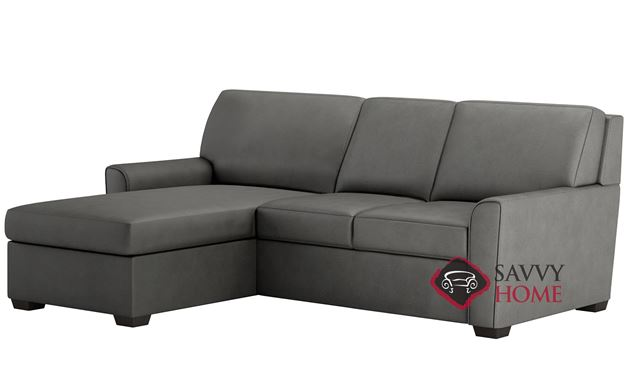 Klein Queen Plus with Chaise Sectional Leather Comfort Sleeper by American Leather