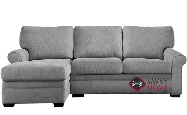 Gaines Low Leg Queen Plus with Chaise Sectional Leather Comfort Sleeper by American Leather