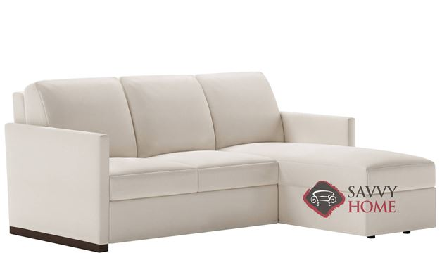 Pearson Low Leg Queen Plus with Chaise Sectional Leather Comfort Sleeper by American Leather