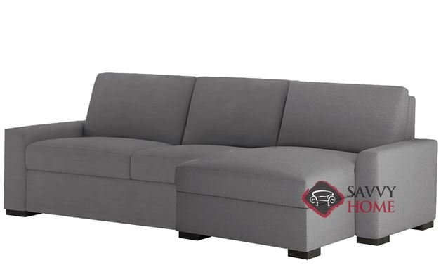 Olson Low Leg Queen Plus with Chaise Sectional Comfort Sleeper by American Leather
