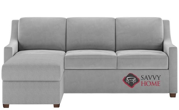Perry Queen Plus with Chaise Sectional Comfort Sleeper by American Leather