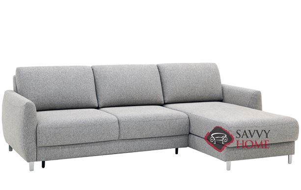 Delta Chaise Sectional Sleeper Sofa in Rene 03 by Luonto