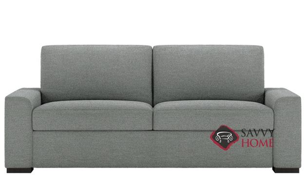 Olson Low Leg Queen Comfort Sleeper by American Leather in Hero Charcoal