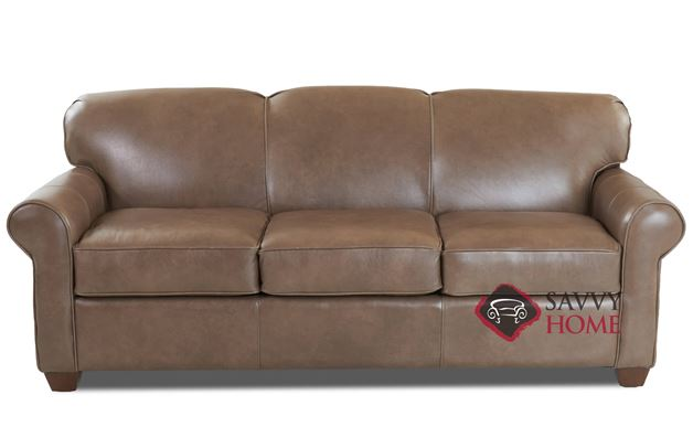 Calgary Leather Sofa by Savvy