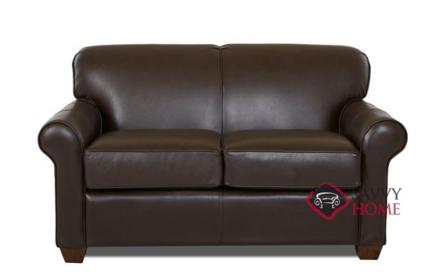 Calgary Leather Loveseat by Savvy