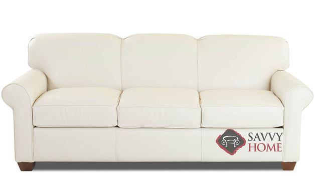 Calgary Queen Leather Sofa Bed by Savvy