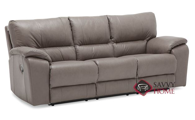 Shields Top-Grain Reclining Leather Sofa by Palliser