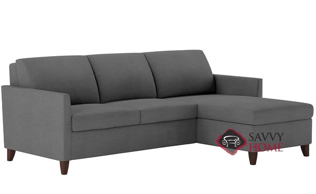 Harris Queen Plus with Chaise Sectional Leather Comfort Sleeper by American Leather