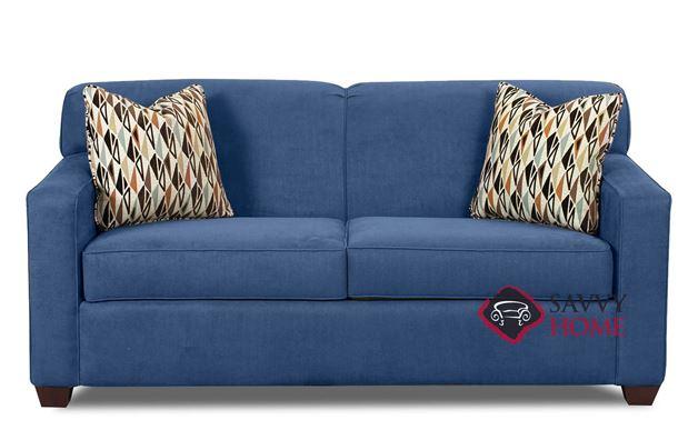 Geneva Full Sleeper Sofa by Savvy in Empire Indigo