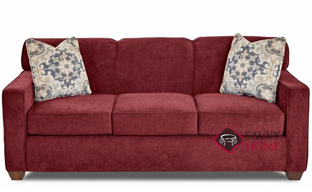 Geneva Queen Sleeper Sofa by Savvy in Empire Berry