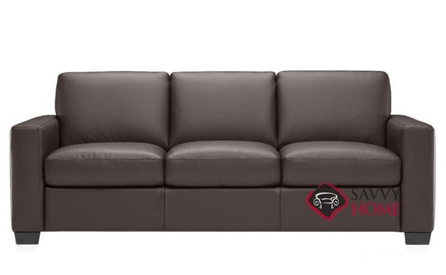 B534 Natuzzi Queen Sleeper Sofa shown in Denver Brown