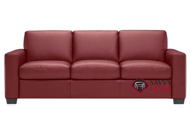 B534 Natuzzi Queen Sleeper Sofa in Le Mans Bordeaux