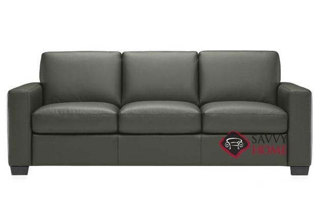 B534 Natuzzi Queen Sleeper Sofa in Oregon Dark Grey