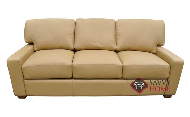Albany Queen Leather Sofa Bed by Omnia