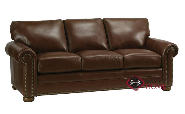 Athens Leather Sofa by Omnia