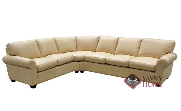 Dream Maker 101 True Sectional Queen Leather Sofa Bed by Omnia