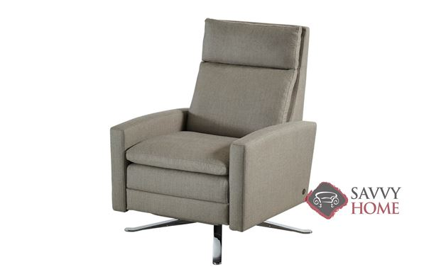 Simon XT Reclining Leather Swivel Chair by American Leather