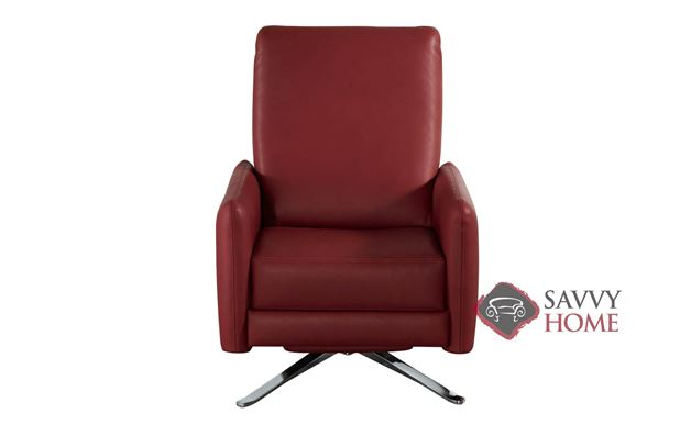 Blake Reclining Leather Swivel Chair by American Leather