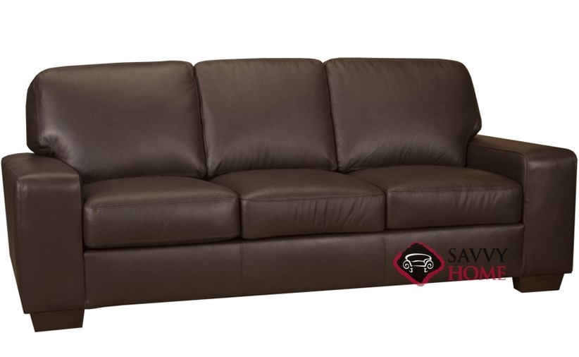 Bailey Leather Sofa with Pocket-Coils by Leather Living