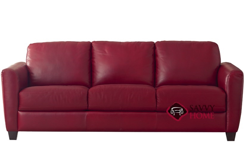 B592 Natuzzi Sofa Shown In Belfast Red