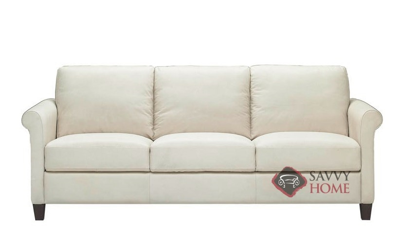 Attirant B580 Leather Sofa In Belfast Ivory
