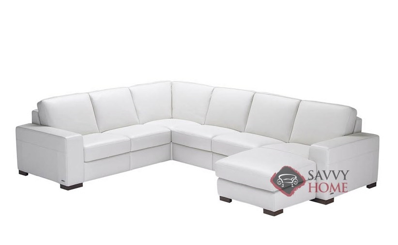 Corno a397 leather reclining true sectional by natuzzi - Leather reclining sectional with chaise ...