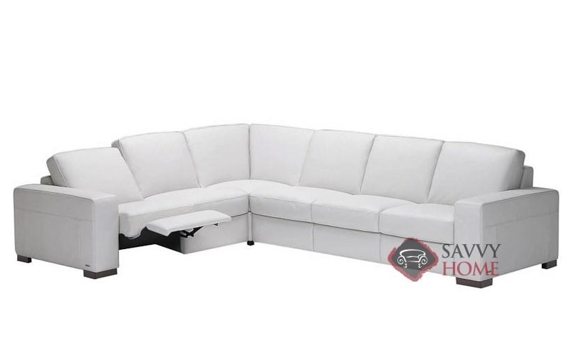 Corno A397 Leather Reclining True Sectional By Natuzzi