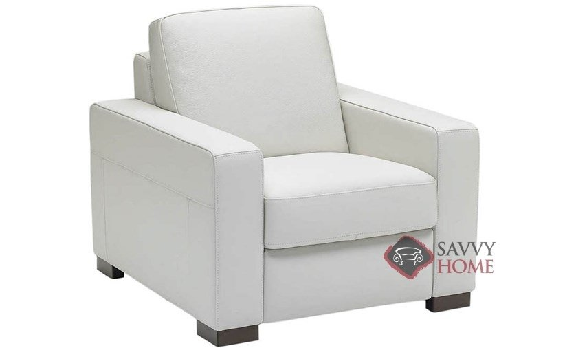 A397 Leather Recliner in Belfast White  sc 1 st  Savvy Home Store & Corno (A397) Leather Chair by Natuzzi is Fully Customizable by You ... islam-shia.org