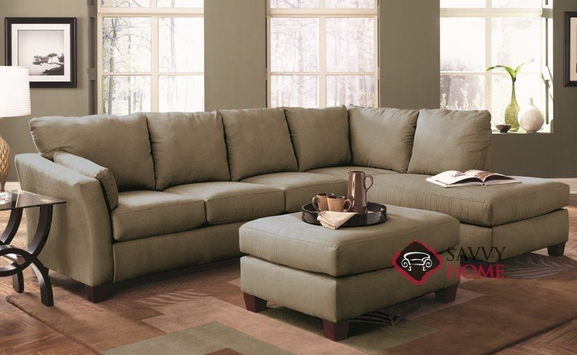 Sienna Chaise Sectional Sleeper Sofa · Sienna Queen Chaise Sectional Room  ...